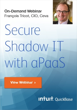 Secure Shadow IT with aPaaS - Featuring CIO of Ceva