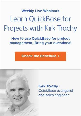 Learn QuickBase for Projects - Live Demo Schedule