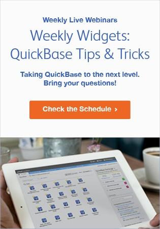 QuickBase Tips & Tricks Weekly Demo - Schedule