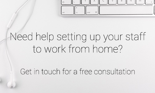 Need help working from home? Get in touch!