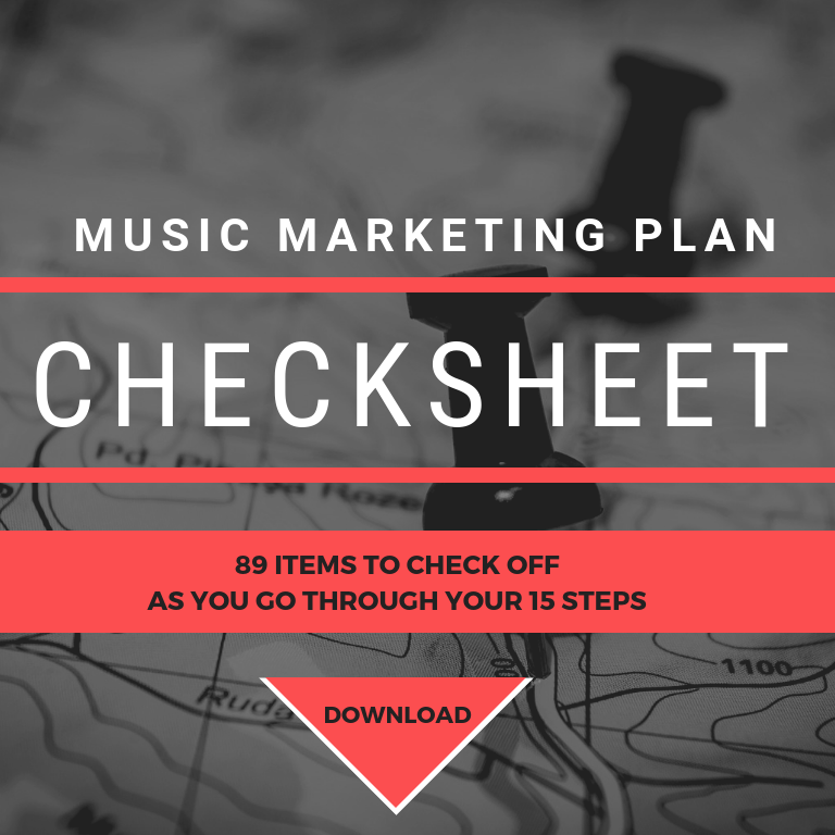 Music Marketing Plan Checksheet Download