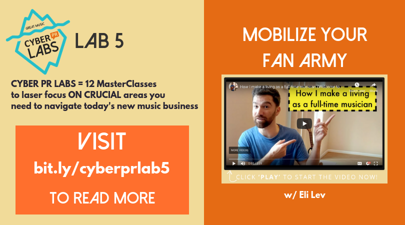 Eli Lev Mobilize Your Fan Army Cyber PR Lab