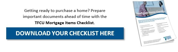 TFCU Mortgage Items Checklist CTA