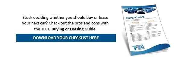 TFCU buying or leasing guide