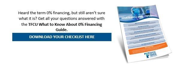 TFCU 0 percent financing guide