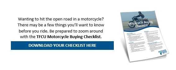 Credit Union motorcycle buying checklist