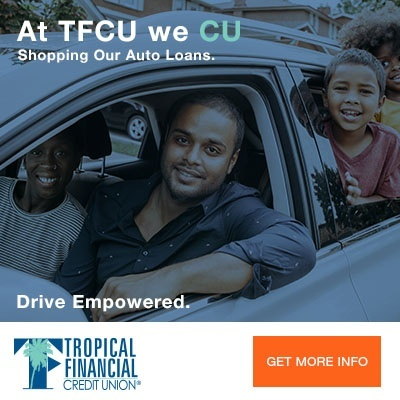 Image of family in car - TFCU online banking portal