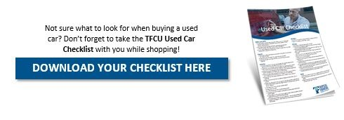Used Car Checklist TFCU
