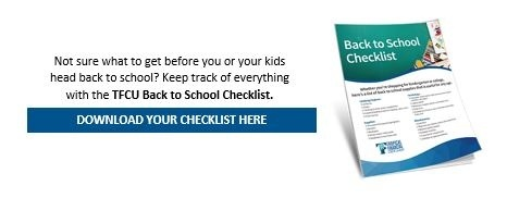 TFCU back to school checklist