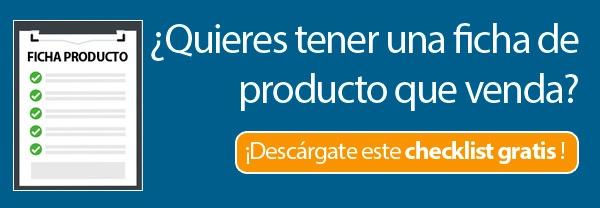 Checklist ficha de producto