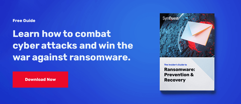 the insiders guide to ransomware: prevention and recovery guide on a blue background