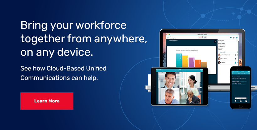 Bring your workforce together from anywhere, on any device with cloud-based unified communications.