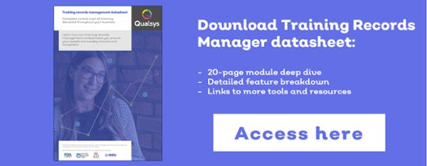 training records manager datasheet
