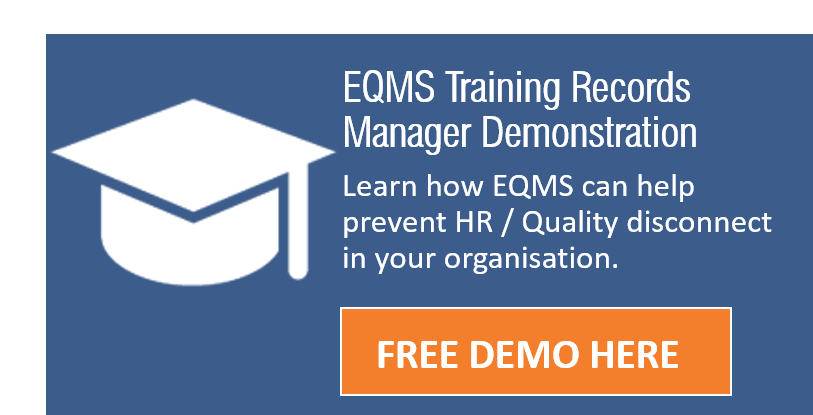 EQMS training records manager