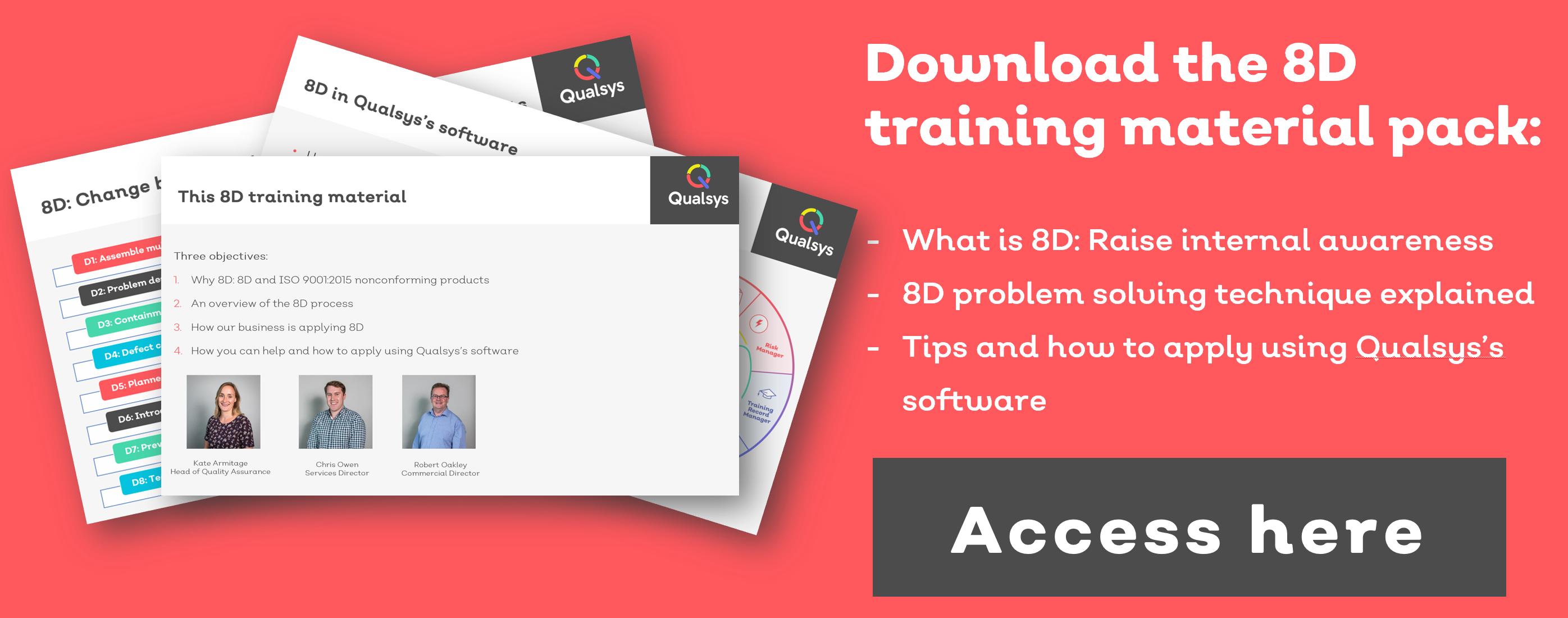 8D process approach for problem solving