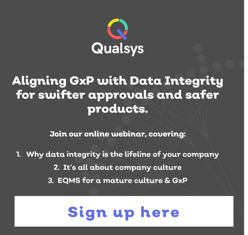 GxP and Data integrity webinar