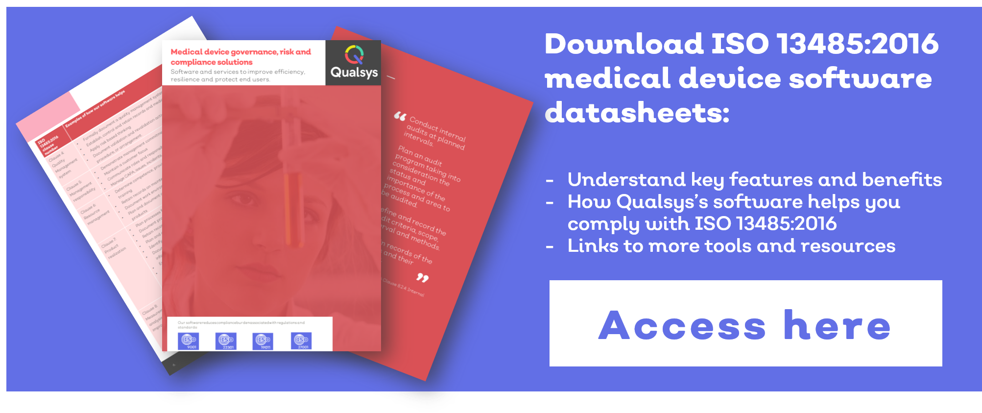 Medical device quality management software datasheet brochure