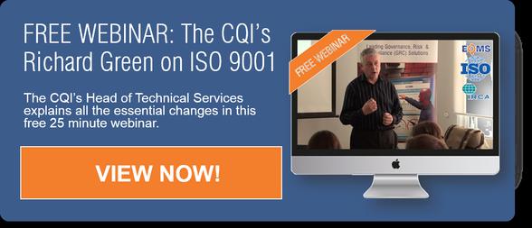ISO 9001 Changes IRCA Webinar