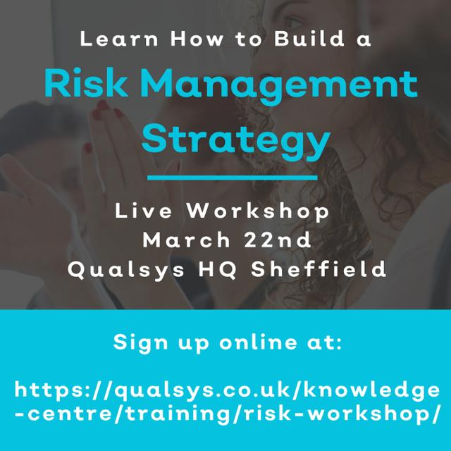 Risk management workshop - sign up today