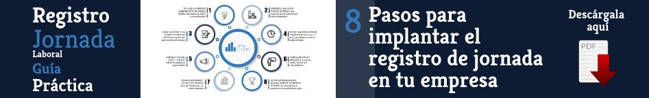 Guía 8 pasos para implantar el registro de jornada en tu empresa