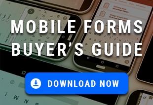 Mobile Forms Vendor Buyer's Guide Download with smartphone background