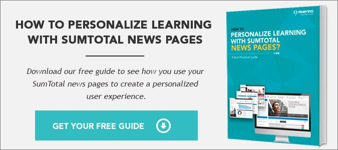 Sumtotal news page guide