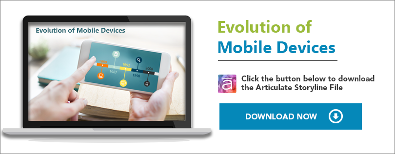 Elearning Challenge -An Interactive timeline on Evolution of Mobile devices