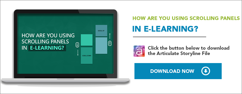 Elearning Challenge - Using scrolling panels in e-learning