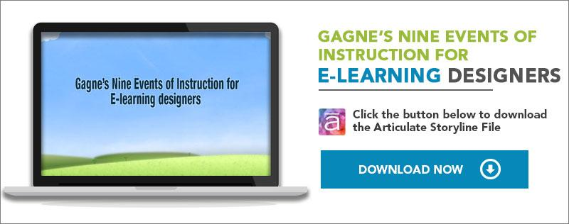 gagne's nine events of instruction
