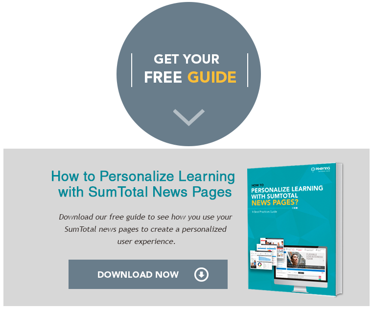 Customized learning using Sumtotal news page