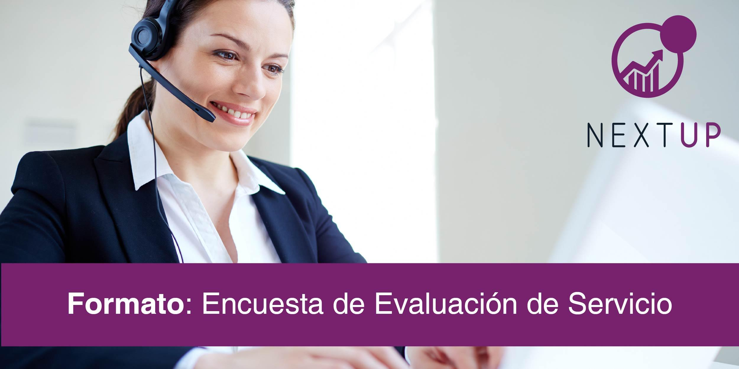 formato encuesta evaluación de servicio