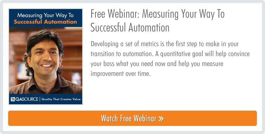 Webinar - Measuring Your Way to Successful Automation