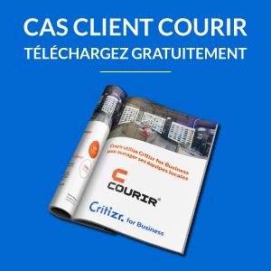 Critizr for Business Cas client Courir