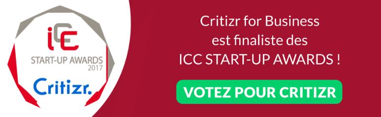 Votez pour aider Critizr à remporter les ICC start up awards