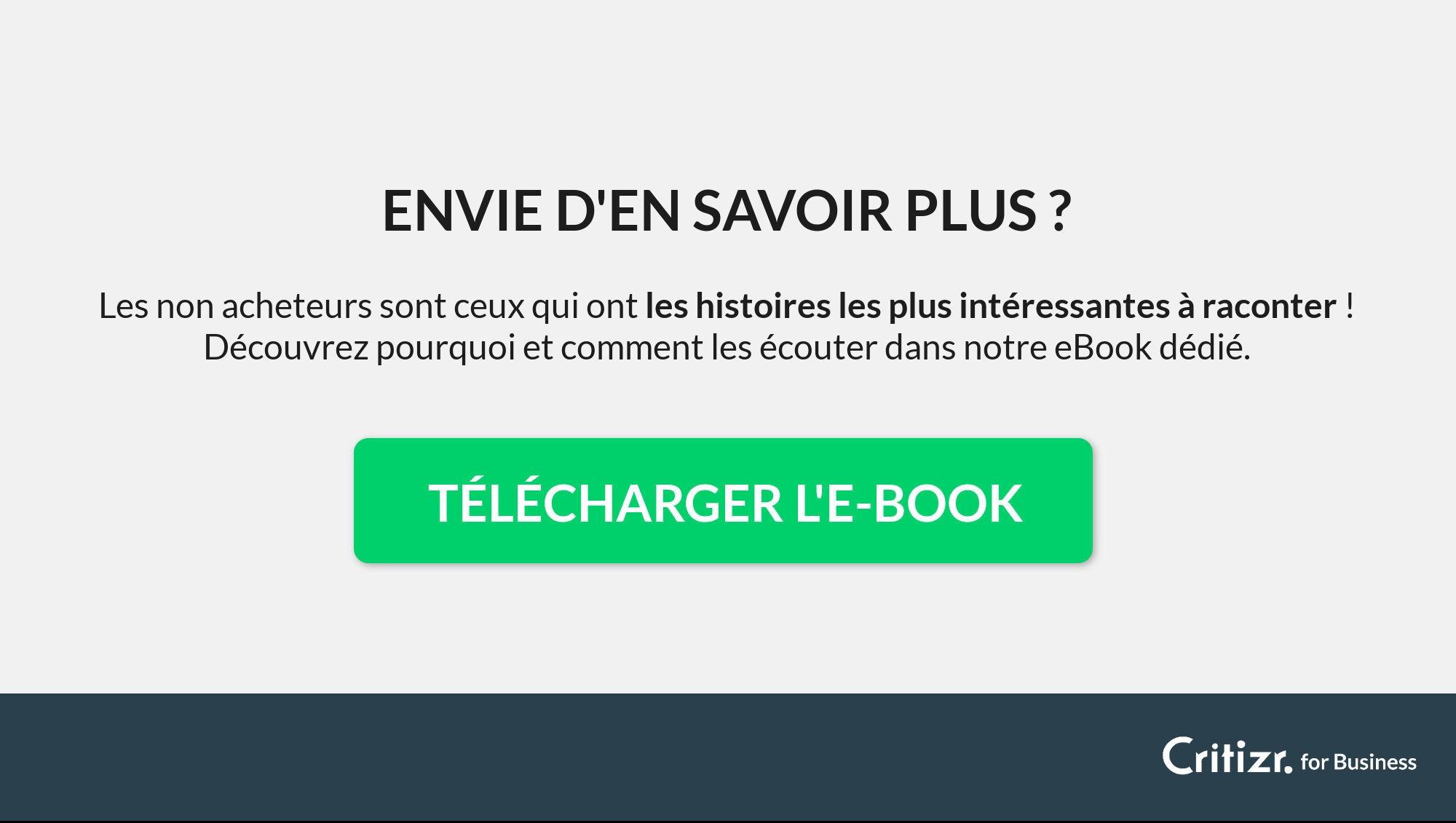 ebook non acheteurs : infographie client mystère vs
