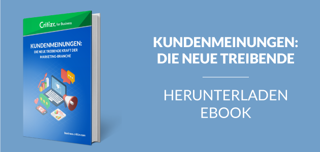 Critizr for Business Ebook Kundenmeinungen