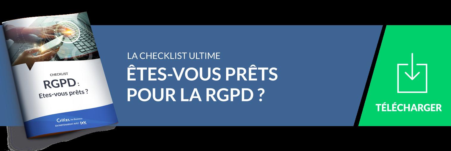 La checklist : se conformer au RGPD : définition, bonnes pratiques, test