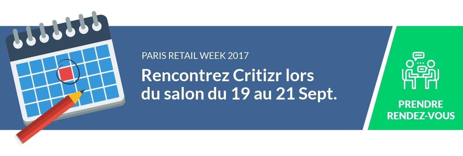 Rencontrez Critizr lors du salon Retail Week 2017