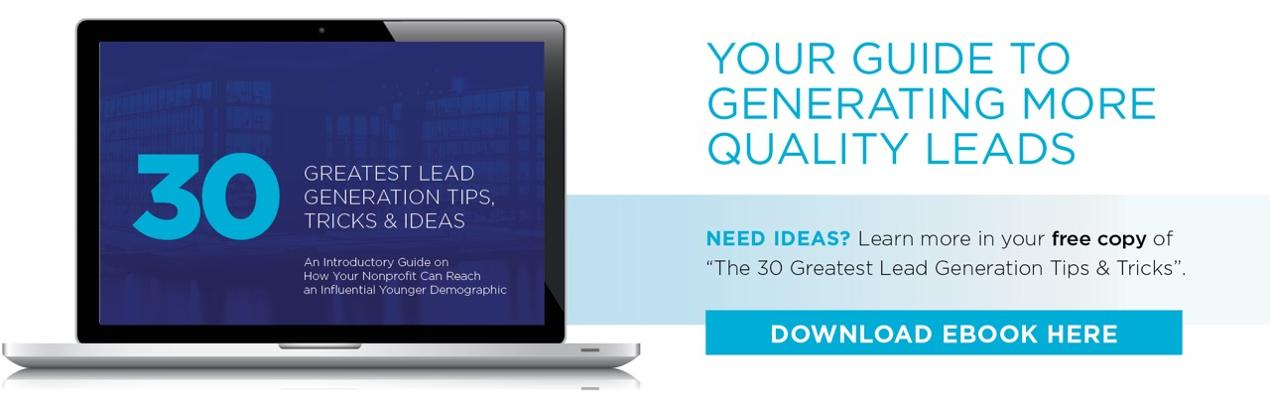 Download Our 30 Lead Generation Tips eBook