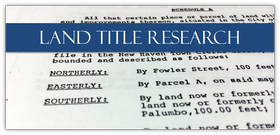 land title research