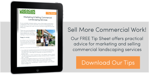 tips for marketing and selling commercial landscaping work