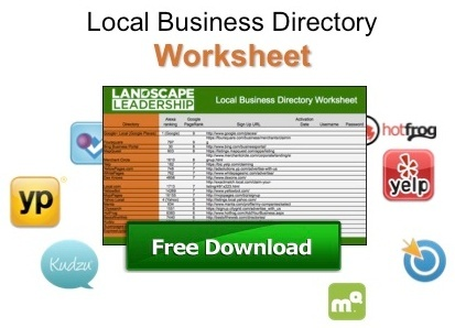 Local Business Directory Worksheet