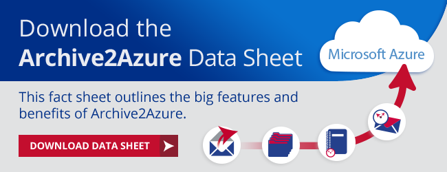 View the Archive2Azure Data Sheet