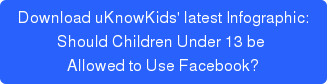 A uKnowKids Infographic: Should Children Under 13 be  Allowed to Use Facebook?
