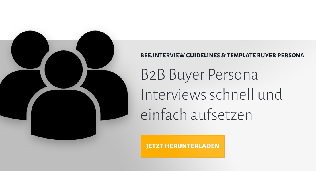 BEE.Interview Guidelines & Template Buyer Persona herunterladen