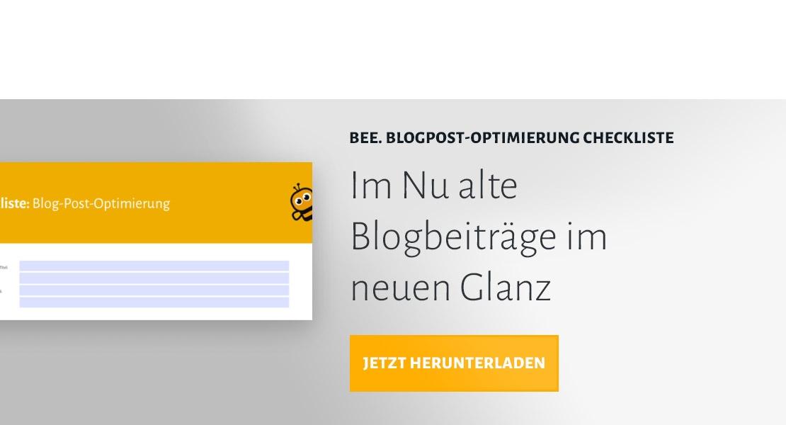 BEE.Blogpost-Optimierung Checkliste herunterladen
