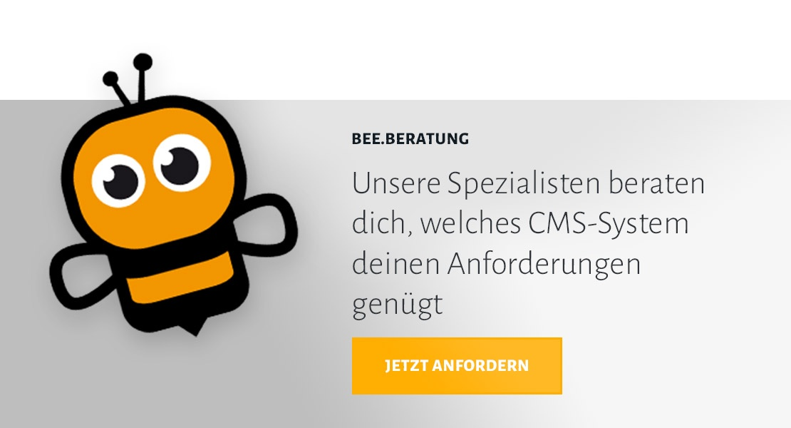 BEE.Beratung zu CMS-Systeme anfordern