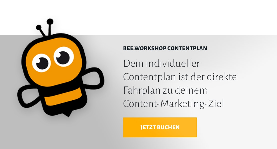 BEE.Workshop Contentplan buchen