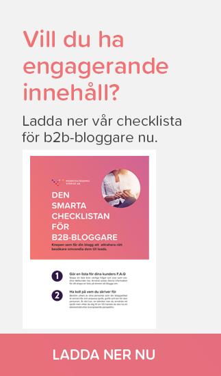 Ladda ner vår checklista för b2b-bloggare nu.