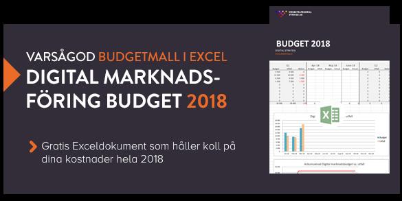 Ladda ner gratis budgetmall för digital marknadsföring 2018